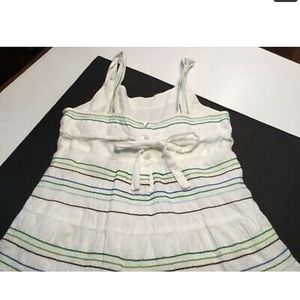 George Dresses - Girls George Sz 7 white sundress tiered embroidery